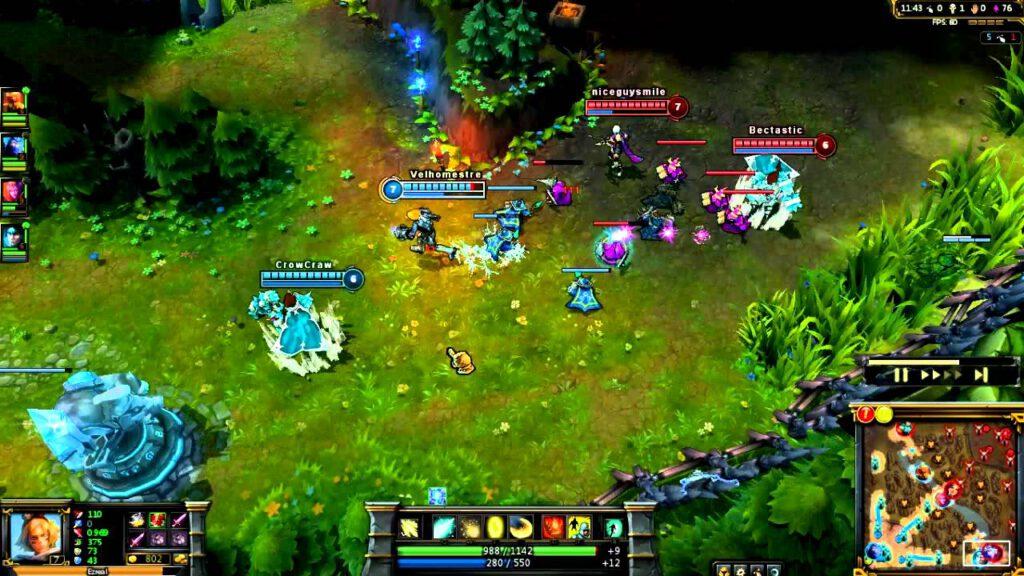 League of Legends é um dos mais populares jogos do gênero MOBA.